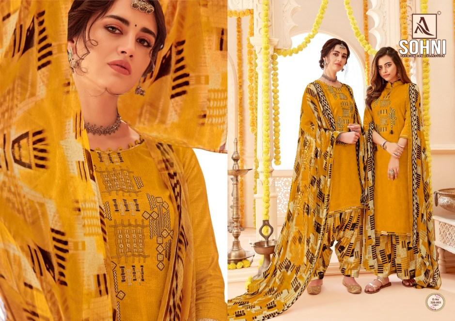 Alok suits sohni patiyala cotton salwar kameez collection