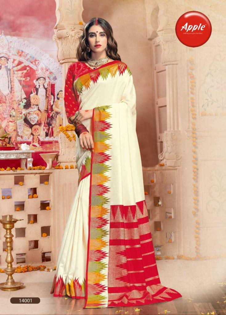 Apple pooja vol 11 Occasional wear silk sarees collection