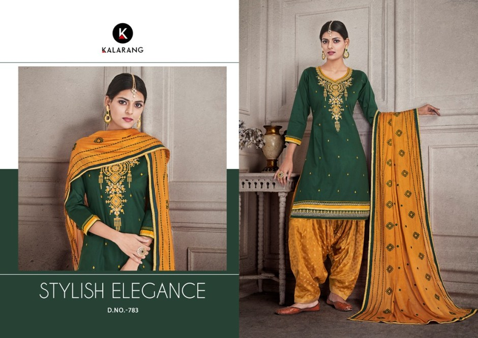 Kalarang Shagun vol 4 jam silk colourful patiyala suits