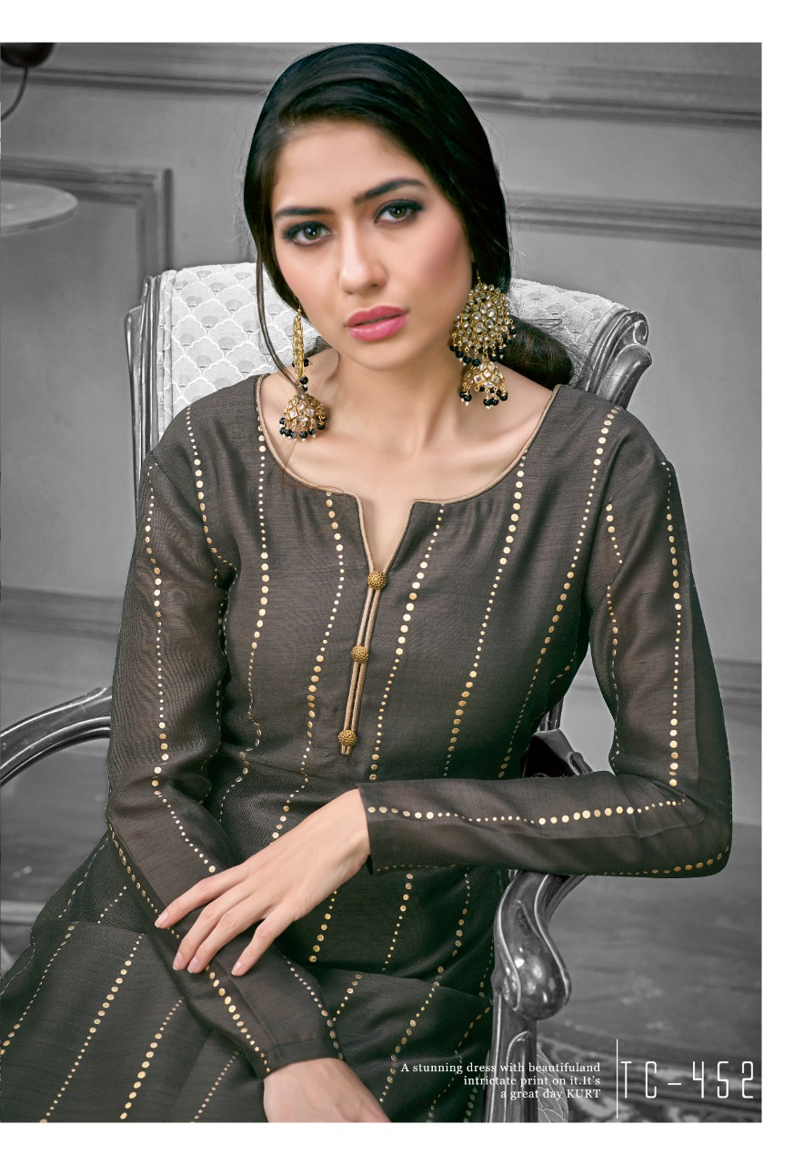 Karma trendz tucute 450 series foil printed kurti with plazzo collection