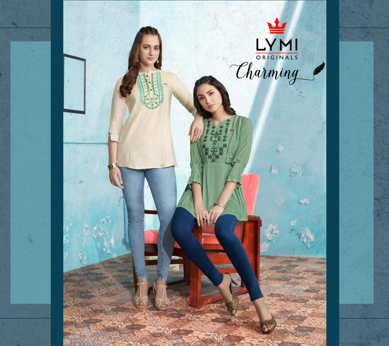Lymi fabrics charming embroidered short tunics catalog exporter