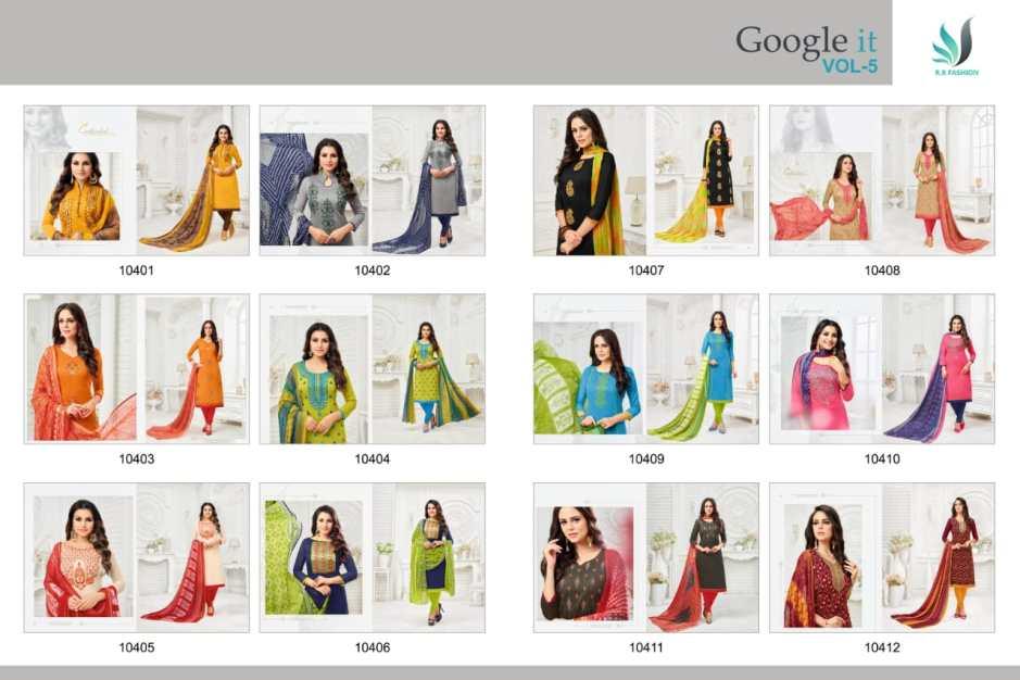 R r Google it vol 5 salwar kameez collection wholsaler