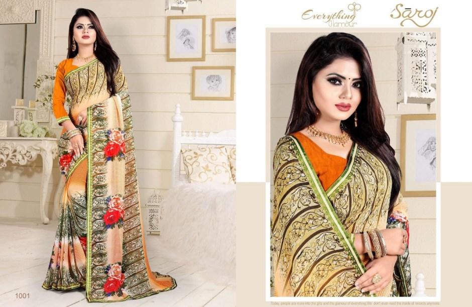 saroj metro vol 27 colourful printed georgette sarees collection