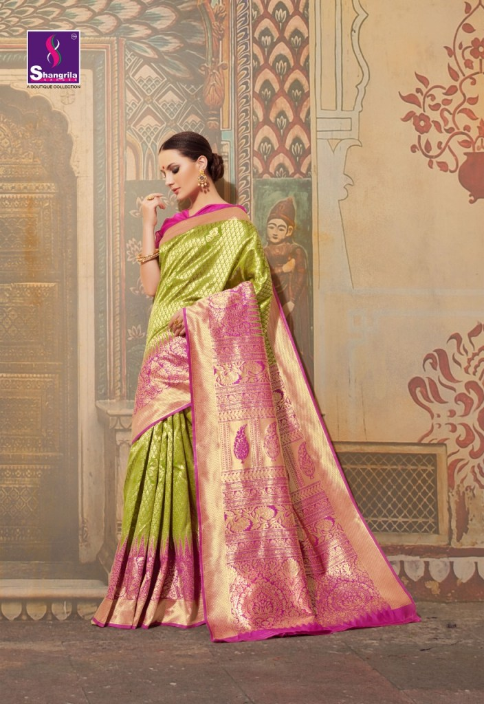 Shangrila krushika silk party wear sarees exporter