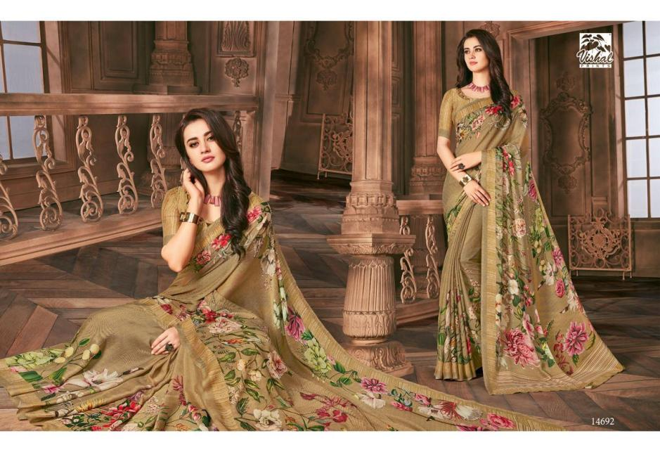 Vishal prints evelyn vol 3 festive wear sarees collection