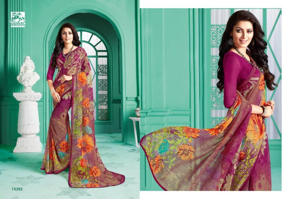 vishal prints parnita indian designer printed sarees exporter