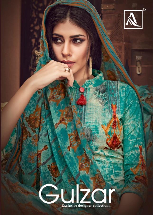 Alok suits gulzar vol 3 cambric cotton printed salwar suits exporter