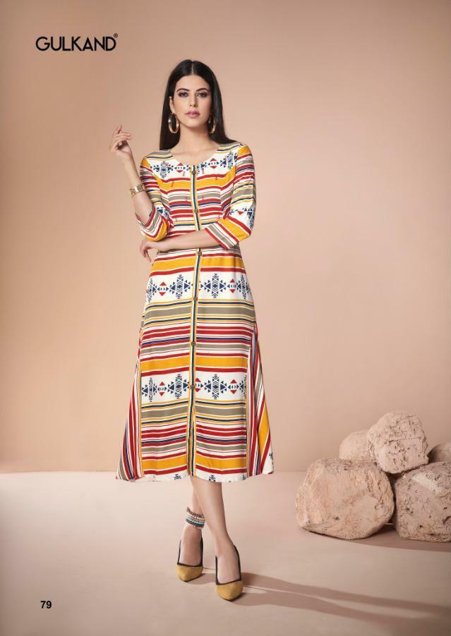 Gulkand Designer Neerja heavy handwork fancy collections of Kurties