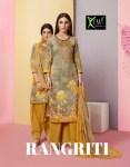 Kessi rangriti cotton embroidered salwar kameez exporter