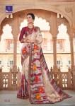 Shangrila gulabo floral printed Jacquard sarees exporter
