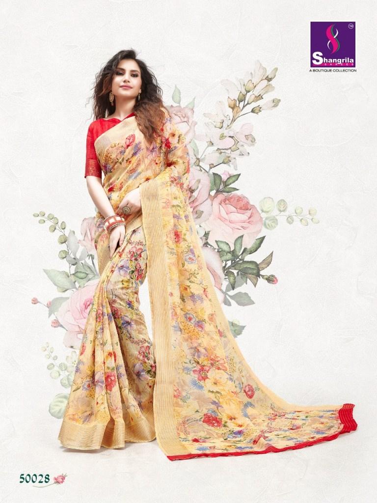 Shangrilla Jaipur linen Rich collection of sarres