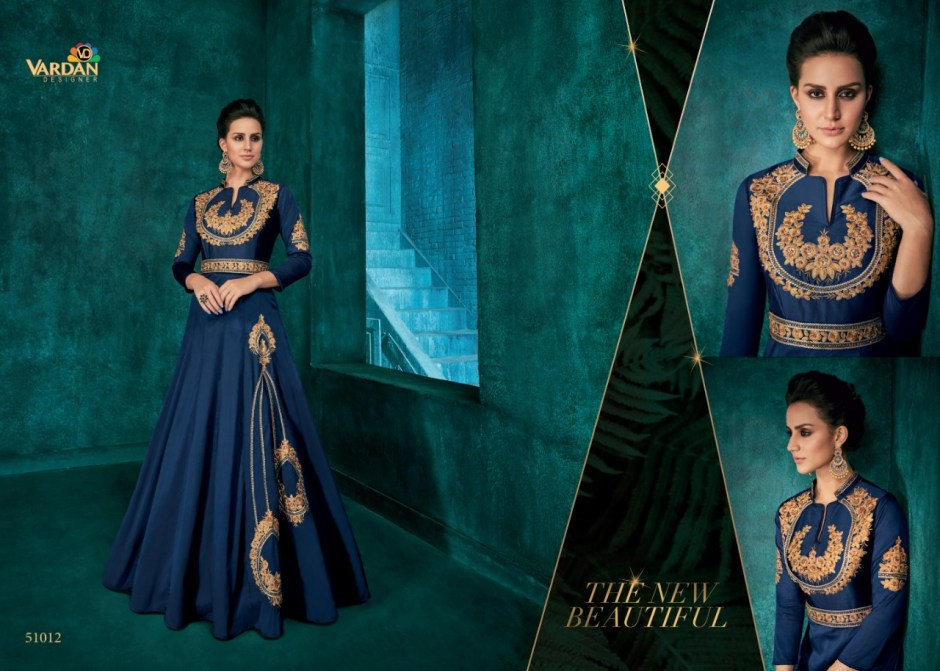 Vardan designer rozi vol 1 ethnic wear ready made gowns collection