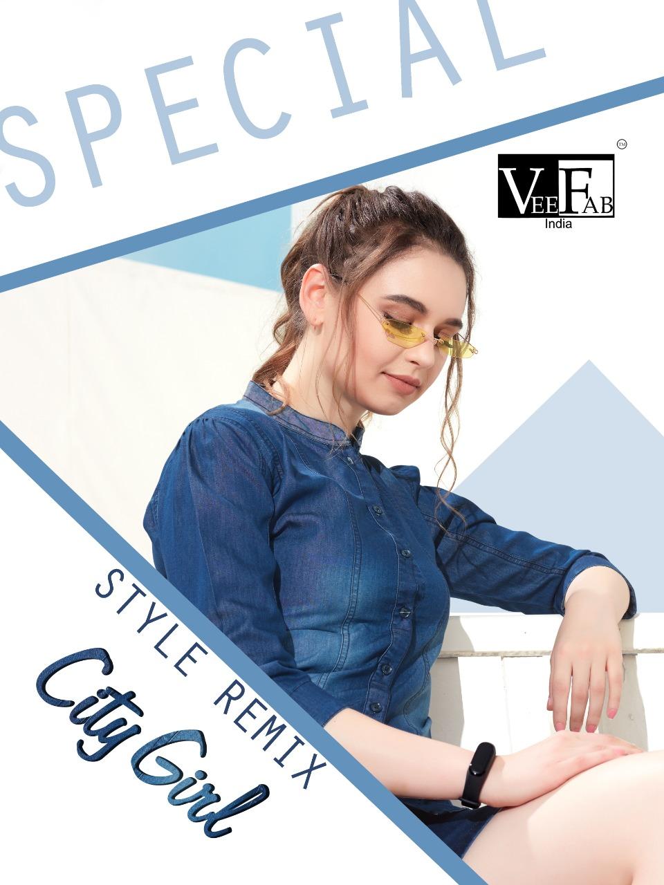 Vee fab city girl pure denim short tops collection dealer