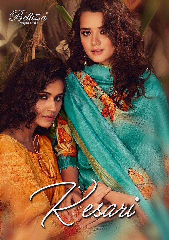 Belliza designer studio kesari digital printed salwar kameez collection