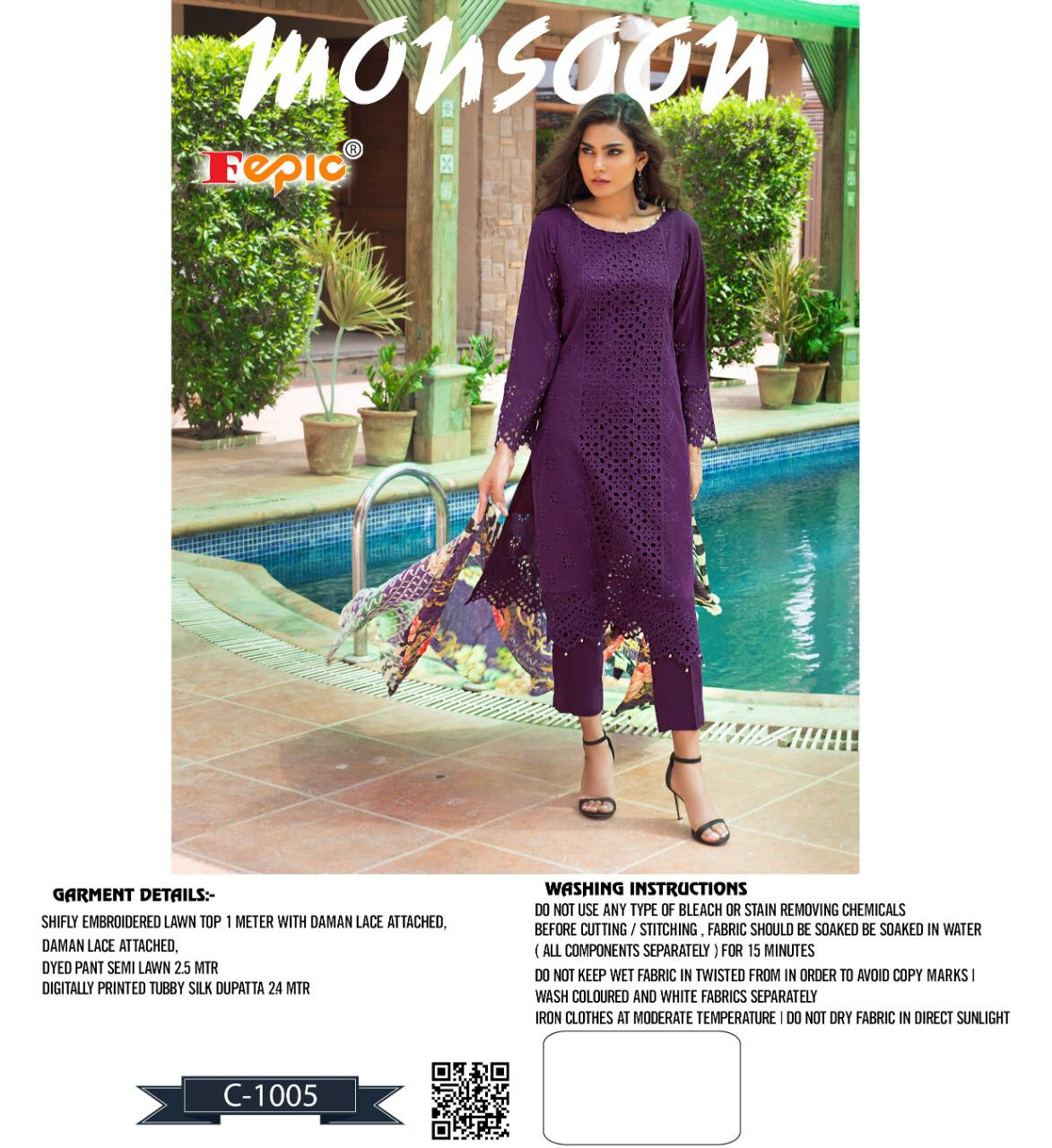 Fepic rosemeen monsoon pakistani concept dress Material collection