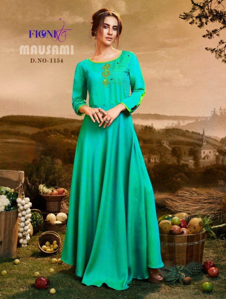 Fionista mausami long evening gown party wear collection