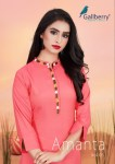 Gallberry amanta vol 5 fancy kurti with plazzo collection wholsaler