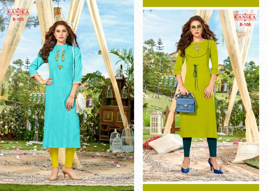 Kanika blossom heavy rayon slub straight kurties catalog dealer