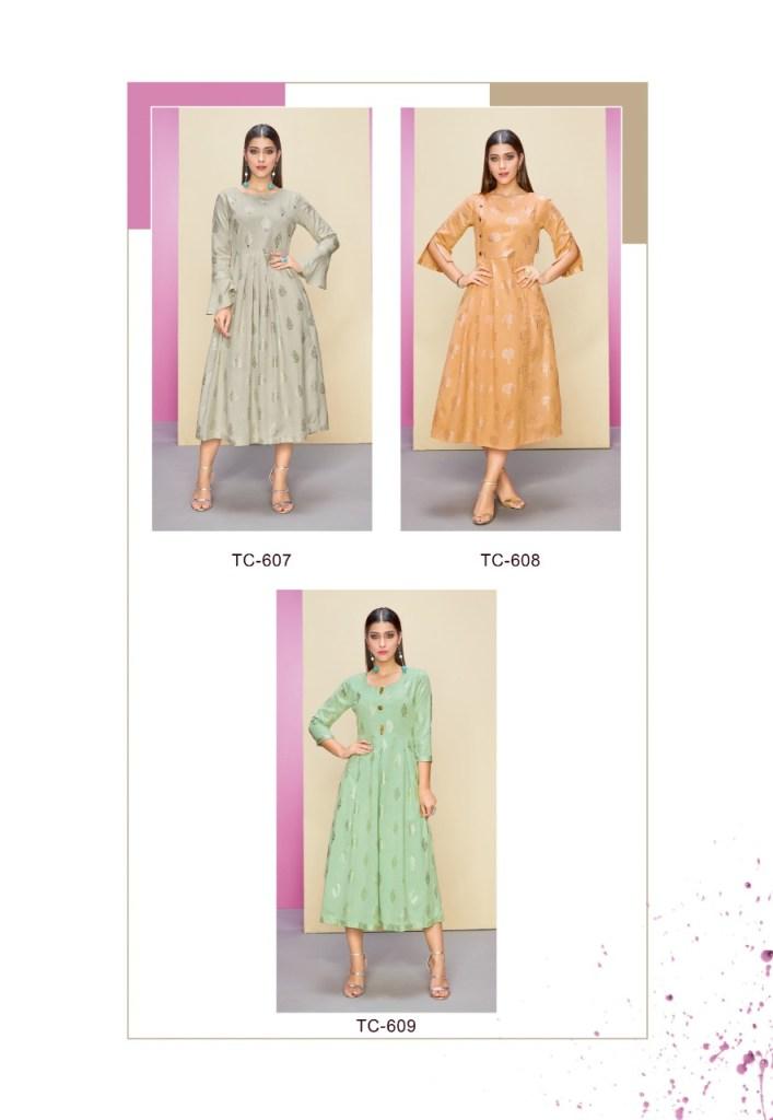 Karma trendz tucute rayon flex foil print collection of Kurties at wholesale prices