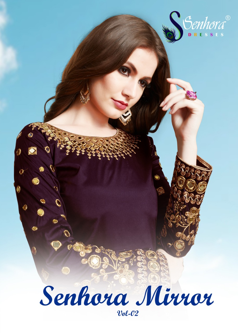 Senhora dresses senhora mirror Vol-2 new designer patiyala suit collection supplier