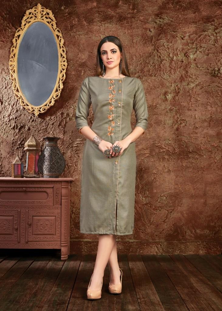 Seven threads poshak embroidered straight kurties collection dealer