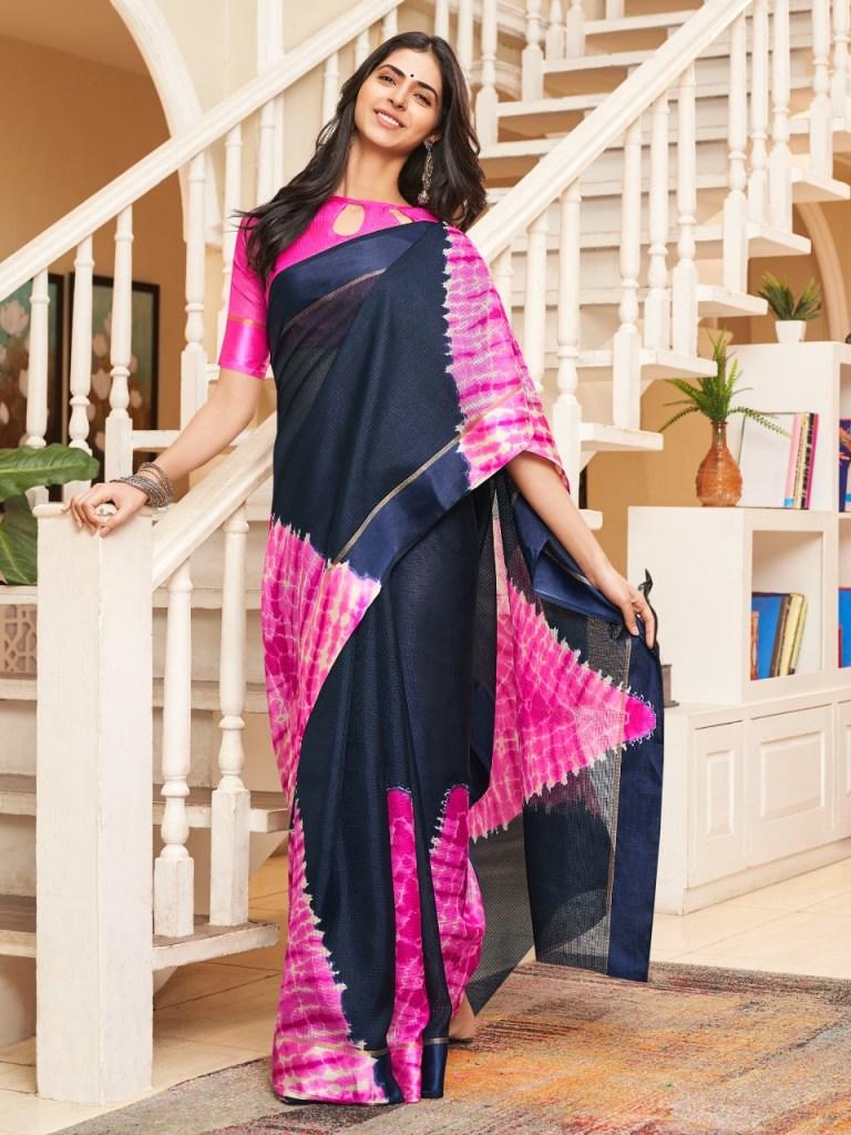 Shangrila Shibori fancy printed beautiful sarees collection at wholesale price