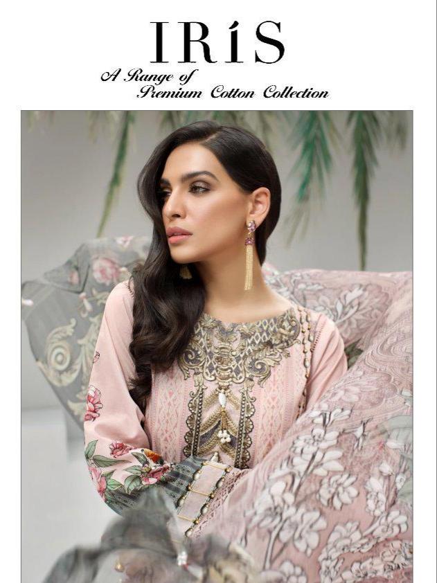 Shree fabs iris heavy embroidered jam silk dress Material exporter