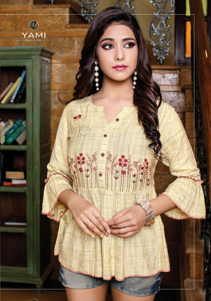 Yami fashion topsy vol 8 beautiful short tunics embroidered collection