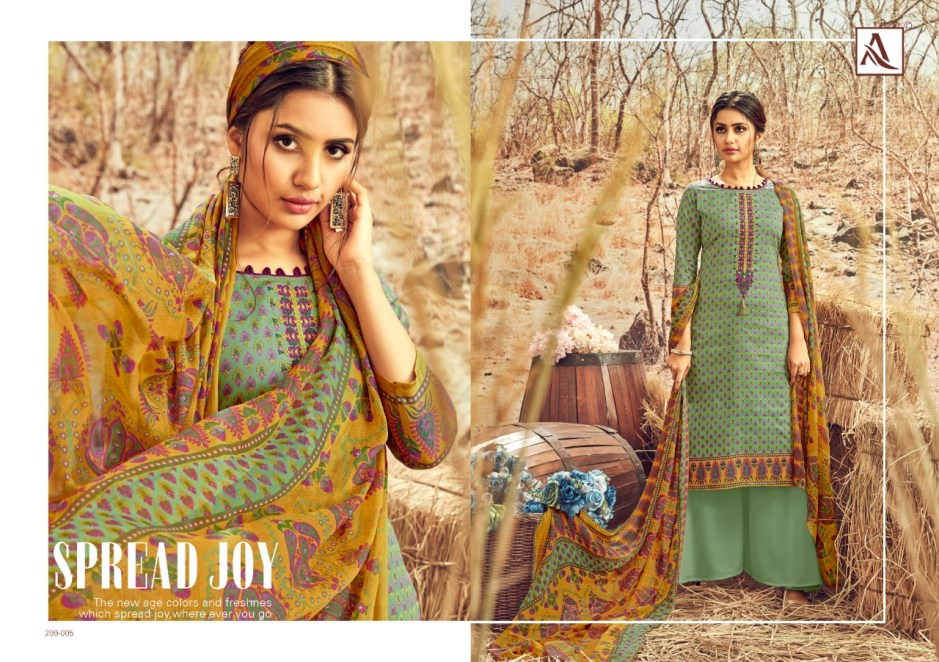 Alok suit avani astonishing style beautifully designed cotton digital print with fancy thread work Salwar suits