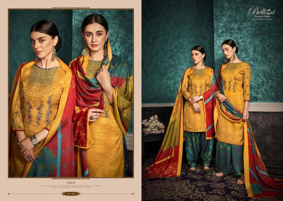 Belliza designer studio Emilia gorgeous look Salwar suits in factory prices