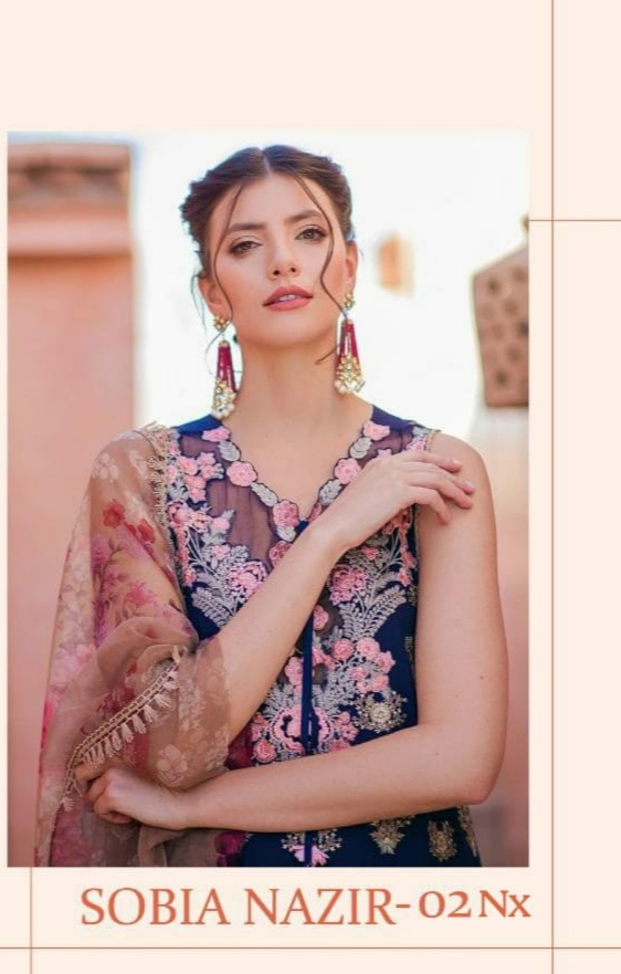 deepsy suit sobia nazir vol 2 nx embroidered pakistani dress Material wholesaler