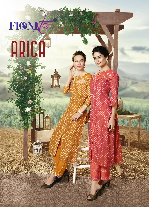 Fionista arica elegant look beautifully designed Kurties in wholesale prices