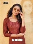 kalaroop pili  classic trendy look kurti catalog
