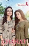 Koodee chahat attractive look rayon print with handwork Kurties