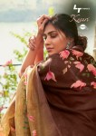 Lt fashion kesari cotton printed sarees collection at wholesale rate
