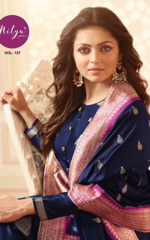 LT Fashion Nitya vol 157 charming and Stylish classy look silk Jacquard beautifull Salwar suits