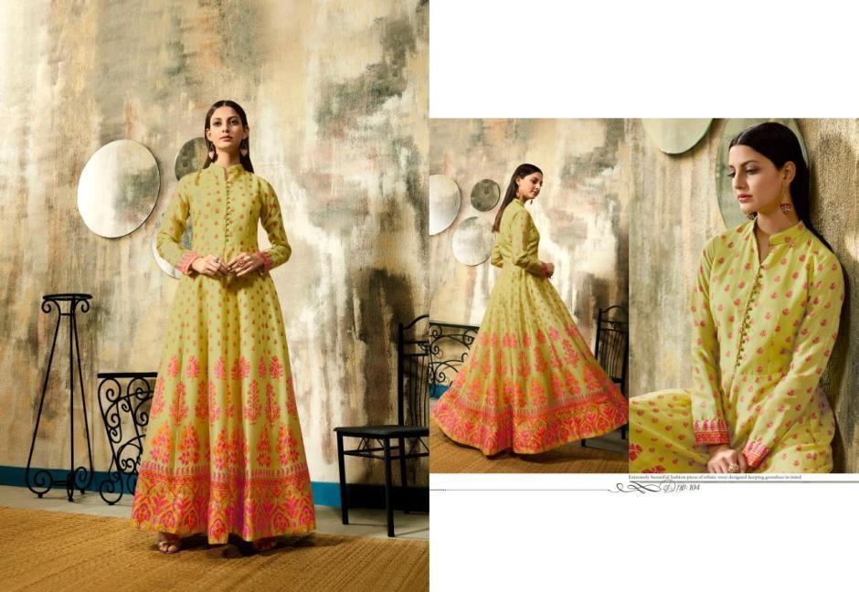 lt nitya risha pure chanderi digital print gown catalog