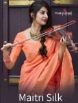 Manjubaa Maitri Silk authentic fabric saree catalog