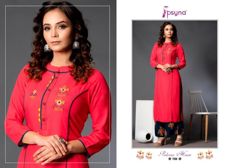 Psyna Palazzo house vol-7 classic trendy fits plazzo in factory rates