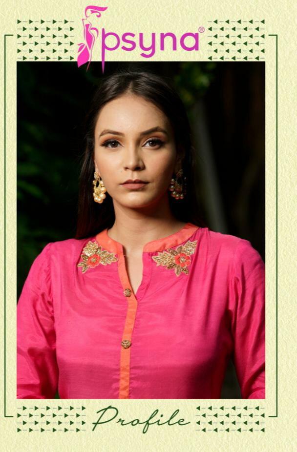 psyna profile viscos graceful look kurti catalog