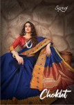 saroj choklet cotton silk regal look saree catalog