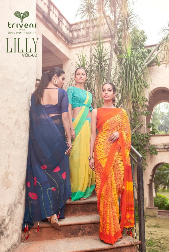 Triveni Lilly vol 2 Charming And newly Designed beautifull Sarees