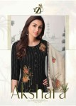 TZU Lifestyle Akshara rayon innovative style kurti pant catalog