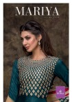 tzu mariya mysore silk festive look kurti bottom with dupatta catalog