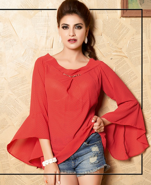 Vitara Fashion top dot classy catchy look tops in wholesale prices