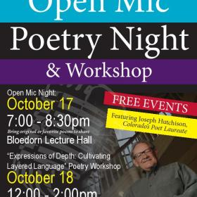 Free Poetry Reading and Workshop in Fort Morgan