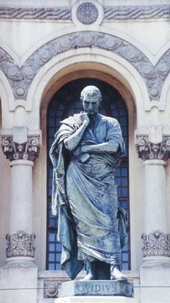 Statue of Ovid in Constanţa, in ancient times known as Tomis, the site of Ovid's exile