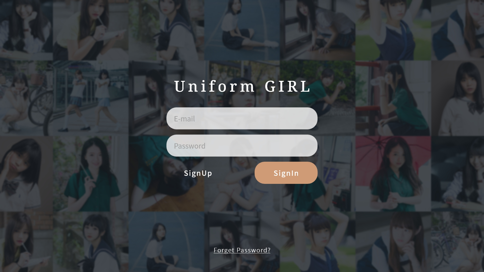 #4 Uniform Girls Sign In Page