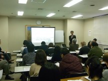Mr. Yamauchi giving a summary in Osaka lecture