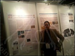 A photo of Dr Hussein Kamal along with his research